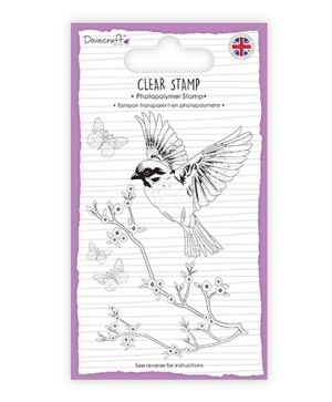 Clear stamp 7,4x10,5 cm - Bird DCSTP133