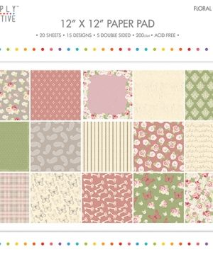 "Paper pad 12""x12"" - Floral Notes SCPAD077"