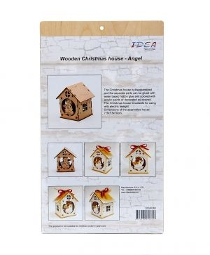 Wooden Christmas house - Angel IDEA0360