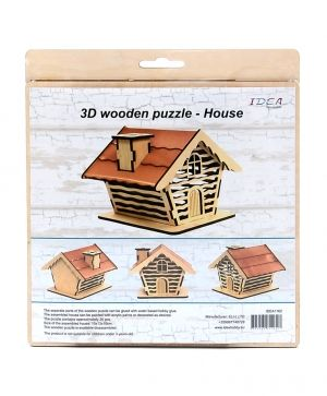 3D wooden construction kit - house IDEA1162
