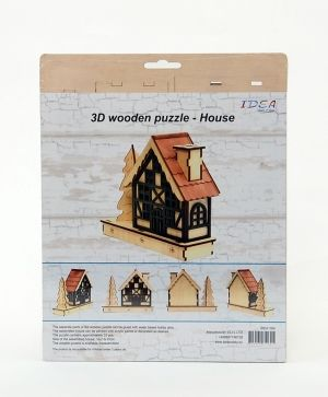 3D wooden construction kit - house IDEA1164