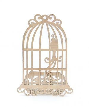 Wooden bird cage - IDEA1301