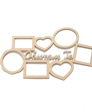 Wooden frame - I love you IDEA1722