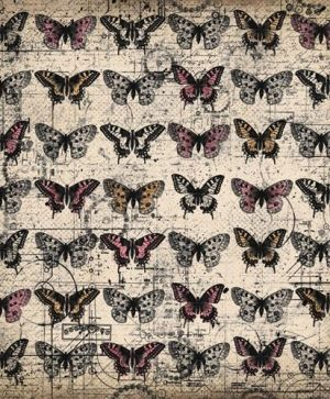 "Double-sided Paper 12""x12"" - His&Hers, Butterflies  ARTHH04"