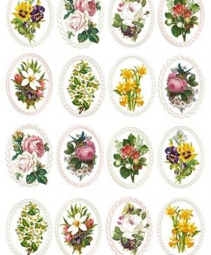Decoupage Rice Paper A4 - Bouquets ITD-R1328