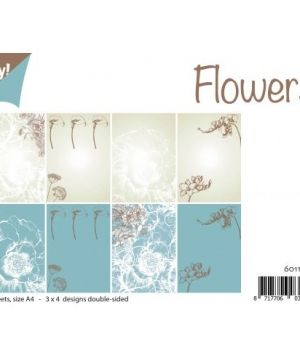 Paper pad A4 12 sheets - Flowers 6011-0530