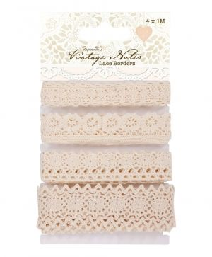 1m Lace Borders (4pcs) - Vintage Notes PMA-367401