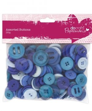 Assorted Buttons (250g) - Blue PMA-354305