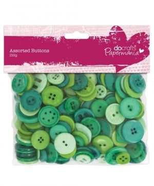 Assorted Buttons (250g) - Green PMA-354307