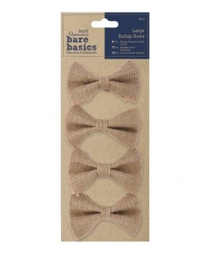 Large Burlap Bows (4pcs) PMA-174502
