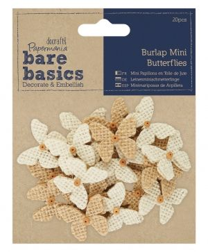 Burlap Mini Butterflies (20pcs) PMA-174868