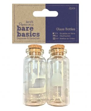Glass Bottles (2pcs) - Haberdashery PMA-174778