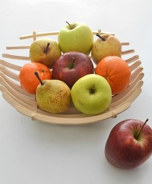 Wooden basket for fruits 30x28x8cm - IDEA1725