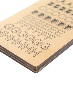 Wooden letters 13mm - IDEA1727