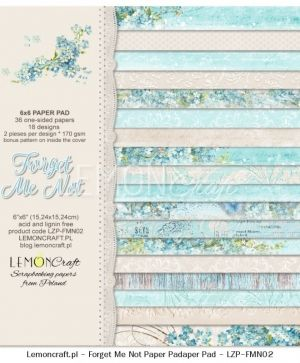 "Paper pad 6""*6"" 36 sheets - Forget Me Not LZP-FMN02"