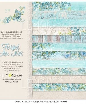"Paper pad 12""*12"" 6 sheets - Forget Me Not LZP-FMN01"