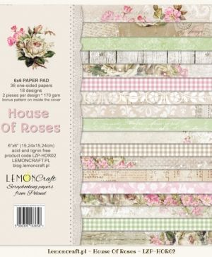 "Paper pad 6""*6"" 36 sheets - House OF Roses LZP-HOR02"