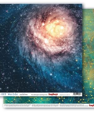 "Double-sided Paper 12""x12"" - Far-Off Worlds, Galaxy  SCB220610902"