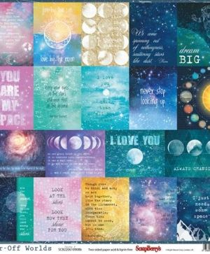 "Double-sided Paper 12""x12"" - Far-Off Worlds, Cards 2 SCB220610908B"