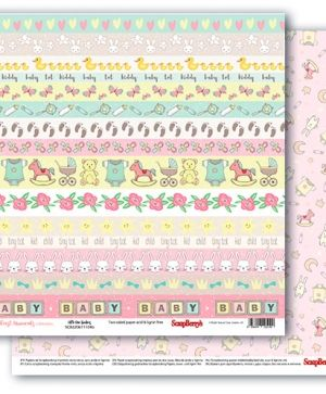 "Double-sided Paper 12""x12"" - First Moments, Little One Borders SCB220611104B"