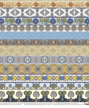 "Double-sided Paper 12""x12"" - Mediterranean Dreams, Borders SCB220609506"