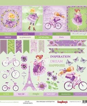 "One-sided Paper 12""x12"" - Precious Memories, Cards 1 SCB220610807B"