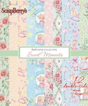 "Paper pad 6""x6"" 12 sheets - Sweet Moments SCB220610310X"