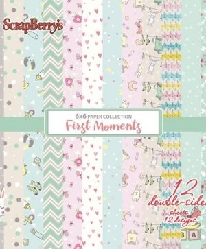 "Paper pad 6""x6"" 12 sheets - First Moments SCB220611109X"