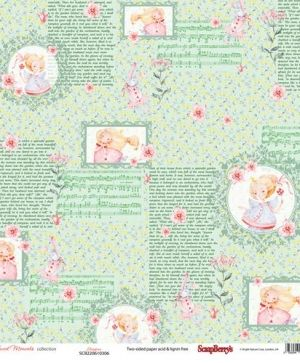"Paper pad 12""x12"" 9 sheets - Sweet Moments SCB220610300B"