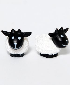 Set of mini sheep, white 2 pieces ID1428-1
