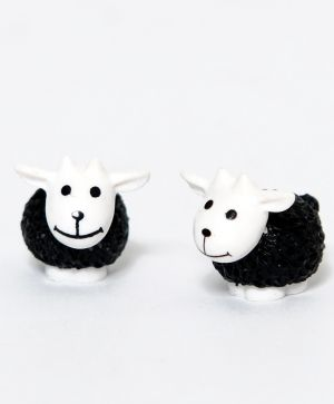 Set of mini sheep 2 pcs - black ID1418-2