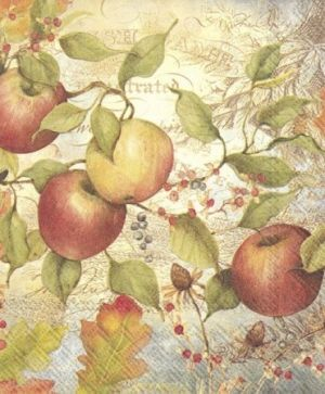Decoupage napkins 33x33cm 20pcs - APPLE L759800