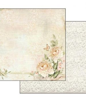 "Double face scrap paper 12""x12"" - Peony and laces SBB552"
