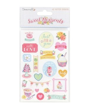 Sweet Moments Glitter Stickers - DCSTK053