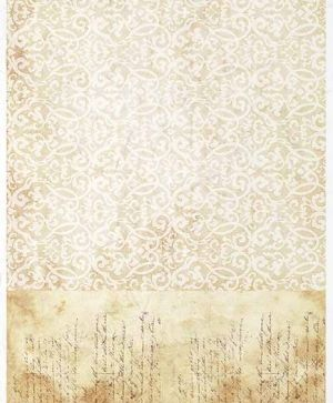 Decoupage Rice Paper A4 - Vintage, old letter - ITD-R1384