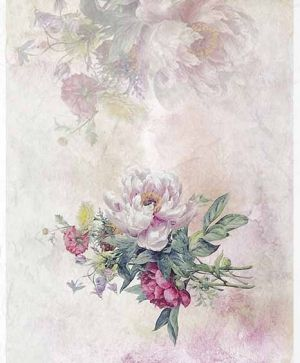 Decoupage Rice Paper A4 - flowers, peonies - ITD-R1390