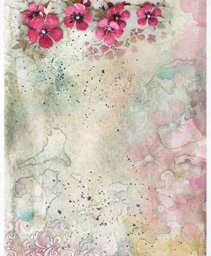 Decoupage Rice Paper A4 - flowers, colorful watercolors - ITD-R1395