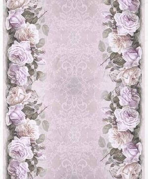 Decoupage Rice Paper A4 - roses, lace- ITD-R1404