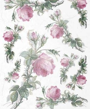 Decoupage Rice Paper A4 - flowers, roses - ITD-R1405
