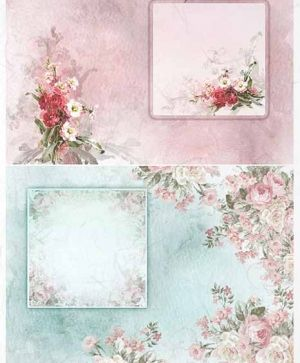 Decoupage Rice Paper A4 -decorative frames - ITD-R1407