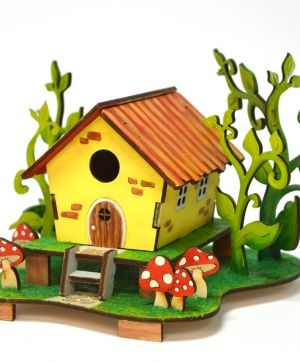3D wooden puzzle - Fairy house IDEA1736