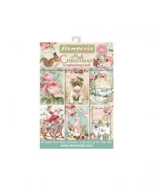 Set of cards 11,4x16,5cm, 24pcs - Pink Christmas SBBPC08