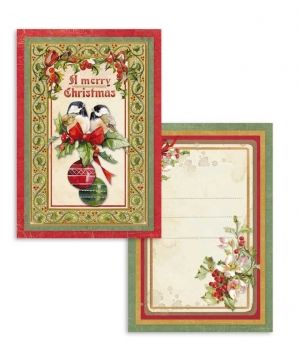 Set of cards 11,4x16,5cm, 24pcs - Christmas vintage SBBPC07