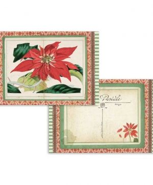 Set of cards 11,4x16,5cm, 24pcs - Winter botanic SBBPC06