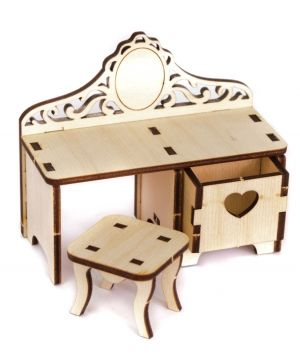 Mini wooden furniture - Dressing table IDEA1740