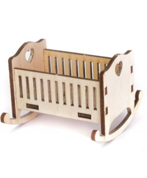 Mini wooden furniture - Crib IDEA1741