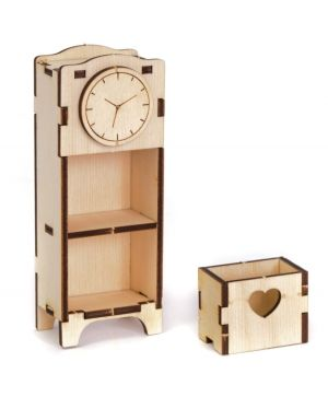 Mini wooden furniture - Wall clock cabinet IDEA1743