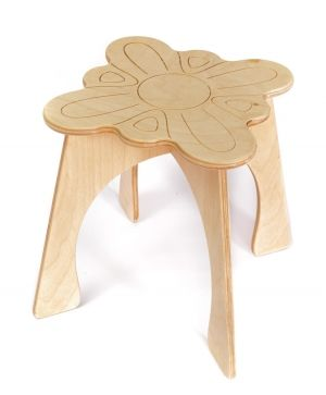 Wooden chair - Flower IDEA1746