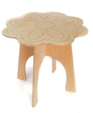 Wooden table - Flower IDEA1751