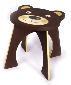 Wooden decorated chair - Bear IDEA1747-1